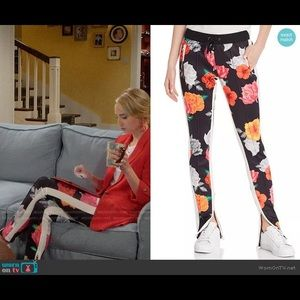 Pam and Gela Fresh Cut Floral Zip Track Pants